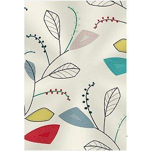 Saco Transparente Decorado - Folhas Colors - 11x19,5cm - 50 unidades - Regina - Rizzo Embalagens