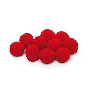 Pompom Decorativo Vermelho - 100 Un - Artegift - Rizzo