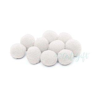 Pompom Decorativo Branco - 100 Un - Artegift - Rizzo