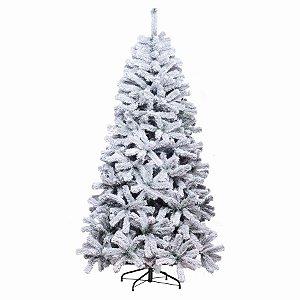 Árvore de Natal Lille Nevada Verde 2,10m - 01 unidade - Cromus Natal - Rizzo Embalagens