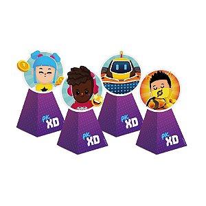 Caixa Cone com Aplique - Festa PK XD Friends - 08 unidades - Cromus - Rizzo Embalagens