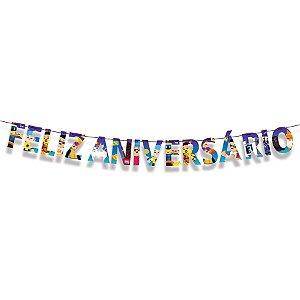 Faixa Feliz Aniversario Festa PK XD Party - 01 Unidade - Cromus - Rizzo Embalagens
