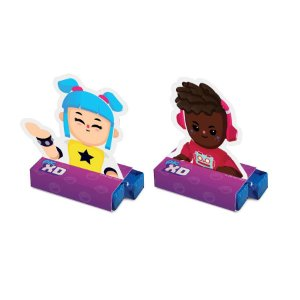 Caixa Bis Festa PK XD Poppy e Updategirl - 08 unidades - Cromus - Rizzo Embalagens
