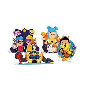 Silhueta Decorativa de Mesa Festa PK XD Party Sort 4 Unidades - Cromus - Rizzo Embalagens