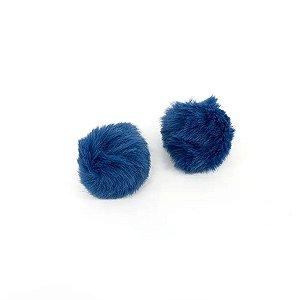 Pompom Pelo Decorativo Azul Escuro - Nº4 - 5 Un - Artegift - Rizzo