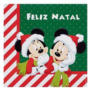 Guardanapo de Papel Mickey e Minnie Feliz Natal - 20 folhas Natal Disney - Cromus - Rizzo