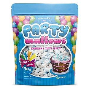 Mini Marshmallow Party Mallows - Baunilha e Tutti-Frutti - 01 Unidade - Florestal - Rizzo Embalagens
