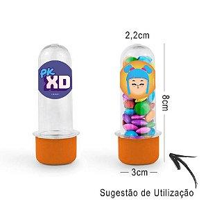 Mini Tubete Lembrancinha PK XD 8cm 20 unidades - Laranja - Rizzo Embalagens