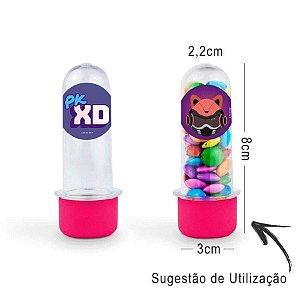 Mini Tubete Lembrancinha PK XD 8cm 20 unidades - Rosa Pink- Rizzo Embalagens