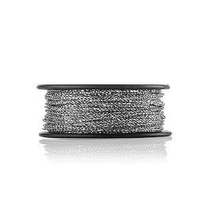 Cordão Elástico Metalizado Prata  -1MM - 50 metros - Firal - Rizzo Embalagens