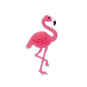 Aplique Flamingo Pink Silicone - 3,5cm - 4 Un - Artegift - Rizzo