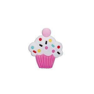 Aplique Cupcake Pink Silicone - 3,5cm - 4 Un - Artegift - Rizzo
