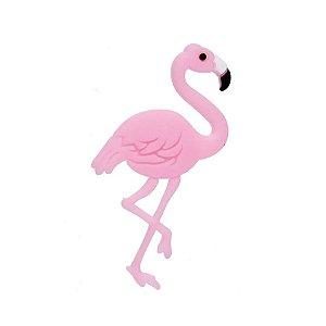 Aplique Flamingo Rosa Silicone - 3,5cm - 4 Un - Artegift - Rizzo