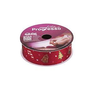 Fita de Cetim ECF 005TR 22mm -10m Cor 088 Enfeites Biscoito de Natal - 01 unidade - Progresso - Rizzo Embalagens