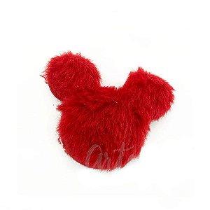 Aplique Urso Pelo Vermelho Decorativo - 2 Un - Artegift - Rizzo