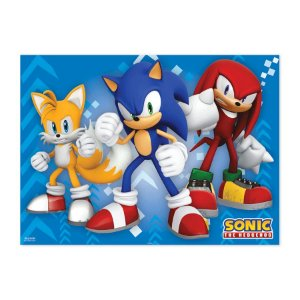 Painel TNT Festa Sonic - 140 x 103cm- 01 Unidade - Piffer - Rizzo Embalagens
