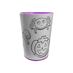 Copo para Colorir Halloween - Color Cup - Roxo - 01 unidade - Rizzo Embalagens