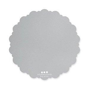 Cake Board Dalia MDF Prata  - 01 unidade - Sonho Fino - Rizzo Embalagens