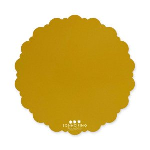 Cake Board Dalia MDF Dourado  - 01 unidade - Sonho Fino - Rizzo Embalagens