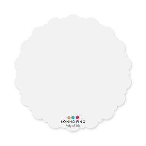 Cake Board Dalia MDF Branco  - 01 unidade - Sonho Fino - Rizzo Embalagens