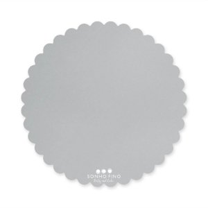 Cake Board Margarida MDF Prata  - 01 unidade - Sonho Fino - Rizzo Embalagens