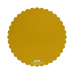 Cake Board Margarida MDF Dourado  - 01 unidade - Sonho Fino - Rizzo Embalagens