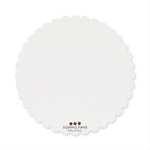 Cake Board Margarida MDF Branco  - 01 unidade - Sonho Fino - Rizzo Embalagens