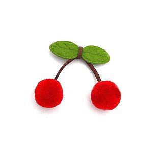 Pompom Cereja Vermelho Decorativo - 5 Un - Artegift - Rizzo
