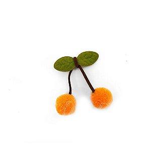 Pompom Cereja Laranja Decorativo - 5 Un - Artegift - Rizzo