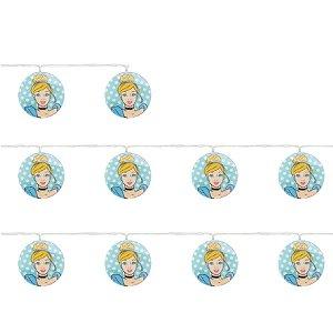 Cordão 10 Leds Cinderela Azul e Amarelo 165cm 2AA - 01 Unidade - Cromus - Rizzo Embalagens