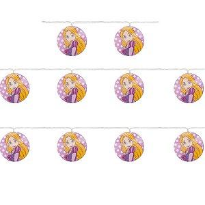 Cordão 10 Leds Rapunzel Lilás, Amarelo e Branco 165cm 2AA - 01 Unidade - Cromus - Rizzo Embalagens