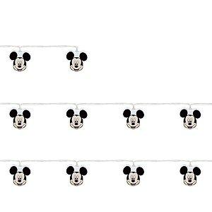 Cordão 10 Leds Mickey Preto e Branco 165cm 2AA - 01 Unidade - Cromus - Rizzo Embalagens