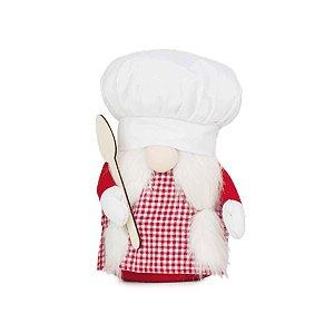 Enfeite Natalino Kringle Chef com Colher 01 Unidade - Cromus - Rizzo Embalagens
