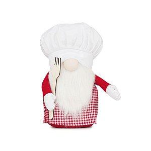 Enfeite Natalino Kringle Chef com Garfo 01 Unidade - Cromus - Rizzo Embalagens