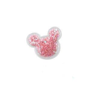 Aplique Urso Incolor Rosa - 5cm - 2 Un - Artegift - Rizzo