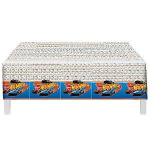 Toalha Plástica Festa Hot Wheels - 1 Unidade - Festcolor - Rizzo Embalagens