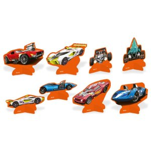 Decoração de Mesa Festa Hot Wheels - 8 Unidades - Festcolor - Rizzo Embalagens