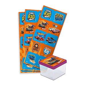 Adesivo Quadrado Festa Hot Wheels - 30 Unidades - Festcolor - Rizzo Embalagens