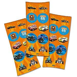 Adesivo Festa Hot Wheels - 30 Unidades - Festcolor - Rizzo Embalagens