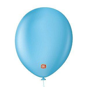 """Balão Profissional Premium Uniq 11"""" 28cm - Azul Light - 15 unidades - Balões São Roque - Rizzo Embalagens"""