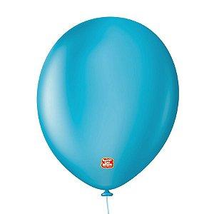 """Balão Profissional Premium Uniq 11"""" 28cm - Azul Topázio - 15 unidades - Balões São Roque - Rizzo Embalagens"""