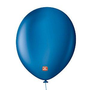 """Balão Profissional Premium Uniq 11"""" 28cm - Azul Clássico - 15 unidades - Balões São Roque - Rizzo Embalagens"""