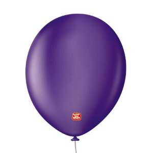 """Balão Profissional Premium Uniq 11"""" 28cm - Roxo Purple - 15 unidades - Balões São Roque - Rizzo Embalagens"""