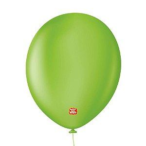 """Balão Profissional Premium Uniq 11"""" 28cm - Verde Cítrico - 15 unidades - Balões São Roque - Rizzo Embalagens"""