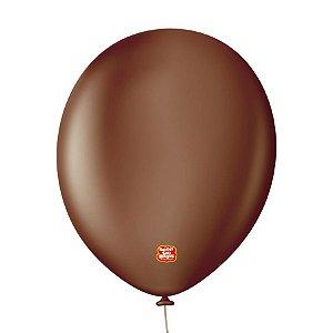 """Balão Profissional Premium Uniq 11"""" 28cm - Marrom Terra - 15 unidades - Balões São Roque - Rizzo Embalagens"""