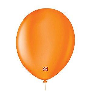"""Balão Profissional Premium Uniq 11"""" 28cm -Laranja Ambar - 15 unidades - Balões São Roque - Rizzo Embalagens"""