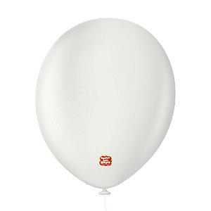 """Balão Profissional Premium Uniq 11"""" 28cm - Branco Absoluto - 15 unidades - Balões São Roque - Rizzo Embalagens"""