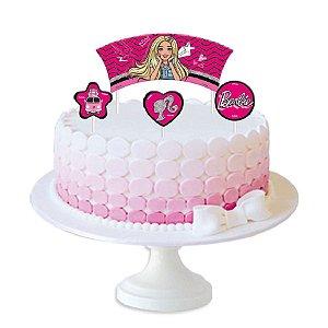 Topper para Bolo Festa Barbie - 4 Unidades - Festcolor - Rizzo Embalagens