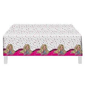 Toalha Plástica Festa Barbie - 1 Unidade - Festcolor - Rizzo Embalagens