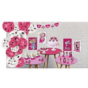 Kit Decorativo Só um Bolinho Festa Barbie - 90 Unidades - Festcolor - Rizzo Embalagens
